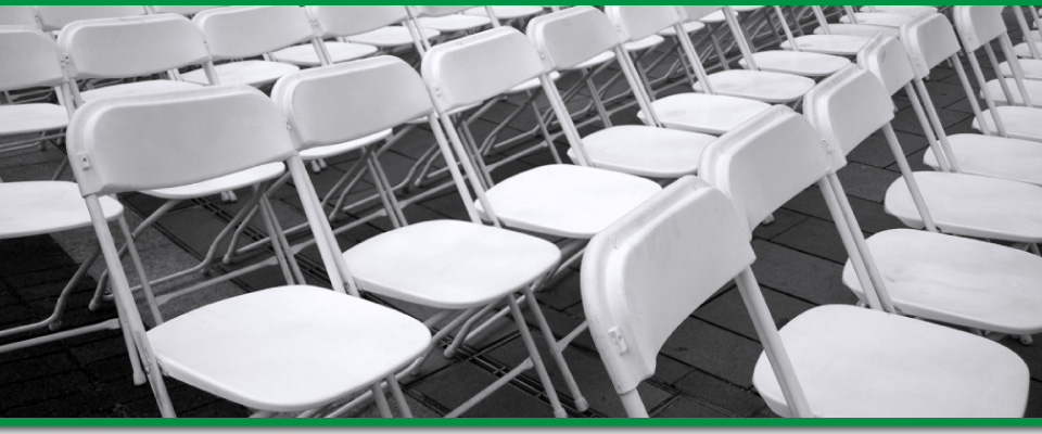 Quality Equipment, Well Maintained - folding chairs